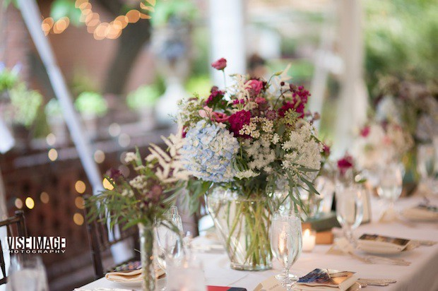 11 Beautiful Blooms Morris House Wedding Tablescape Hydrangea Queen Anne Stock Waxflower Astilbe