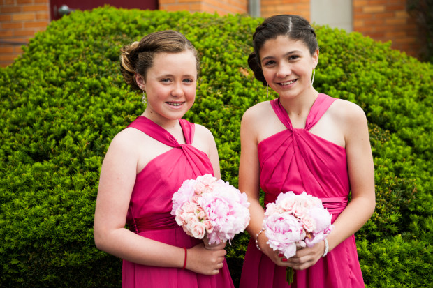 Beautiful Blooms Lorraine Daley Meadowlands Country Club Jr Bridesmaids Peony and Rose Bouquet  Pink Flowers