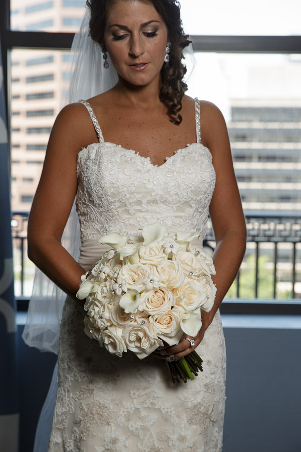 Beautiful Blooms Joe Pulcinella Photography The Down Town Club Bridal Bouquet Roses Stephanotis Crystals White Flowers