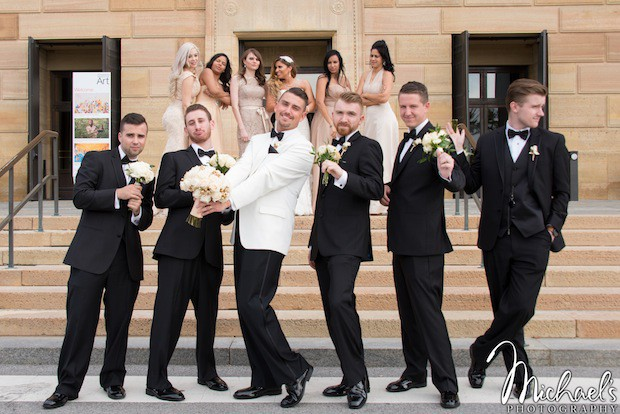 Beautiful Blooms Michaels Photography Bridal Party Union Trust Ivory and Gold Wedding