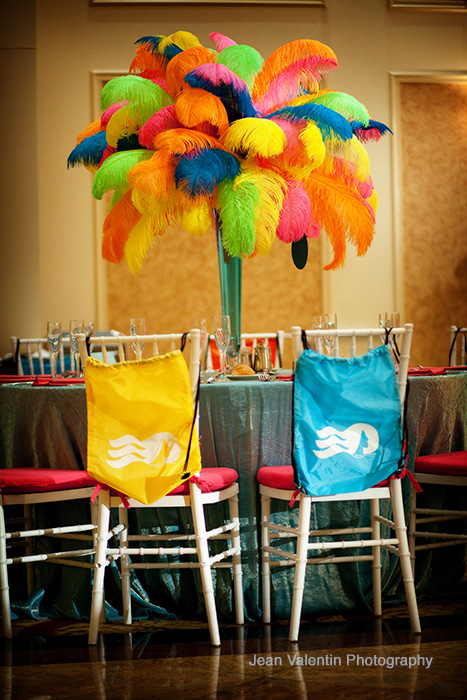 The MerionA Cruise Theme Bat Mitzvah Part Two Beautiful Blooms - Cruise ship centerpieces