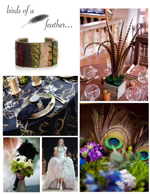 Black Feather Napkin Accent table styled by Beautiful Blooms Events